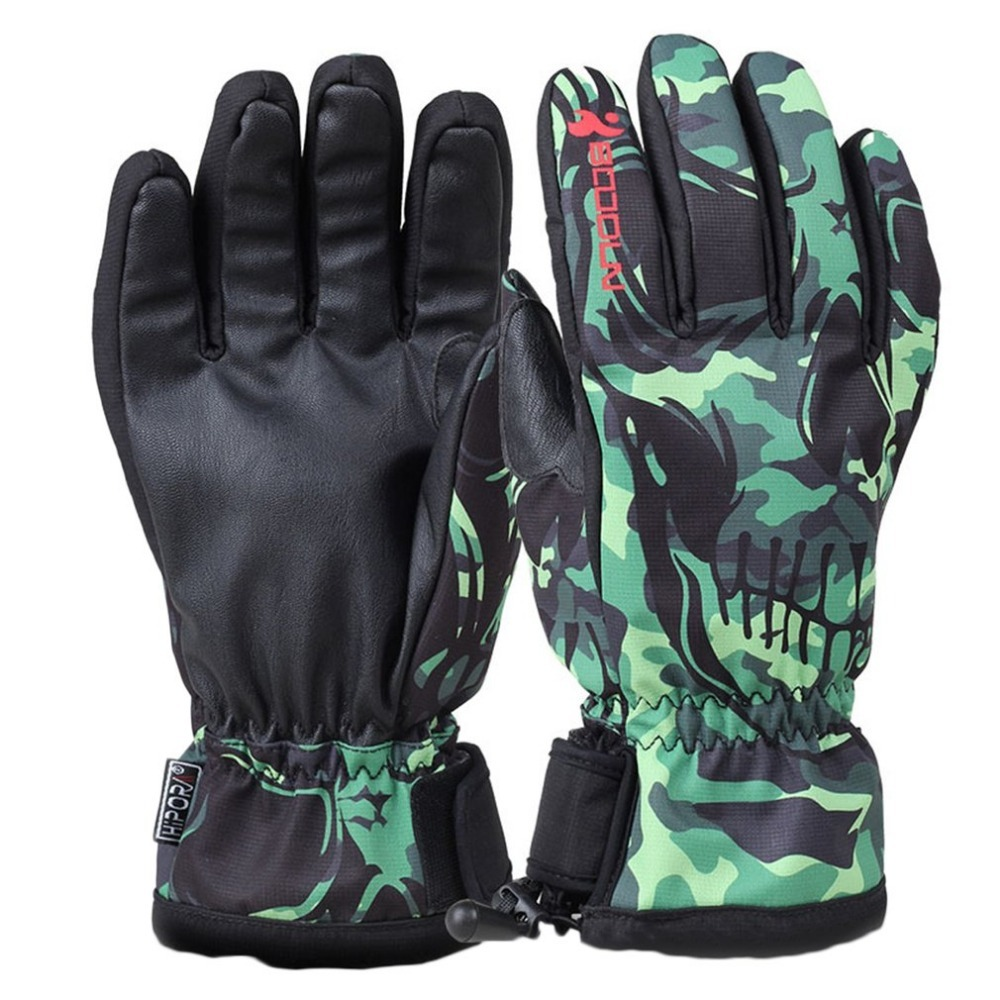 S-XL Professional Ski Gloves Men WOmen Windproof Waterproof Non-slip Snow Skating Skiing Gloves Cotton Warm thick Gloves Adults
