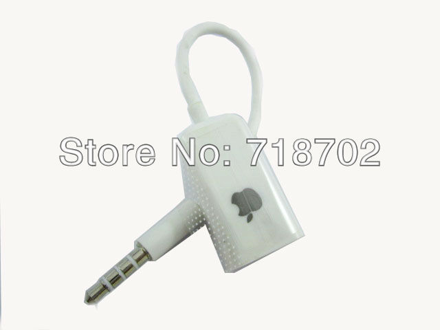 Free Shipping 10pcs 3.5mm Audio Music Splitter Share Adaptor For iPhone Smart Phones