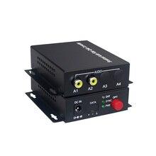 2 canais de áudio conversor óptico transmissão de áudio transceptor de fibra para áudio interfone sistema de transmissão (tx/rx) 1 conjunto