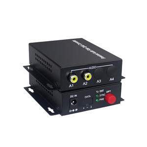 Image 1 - 2 channel audio optical converter Audio Broadcast Fiber Transceiver  for Audio intercom broadcast system (Tx/Rx) 1 set