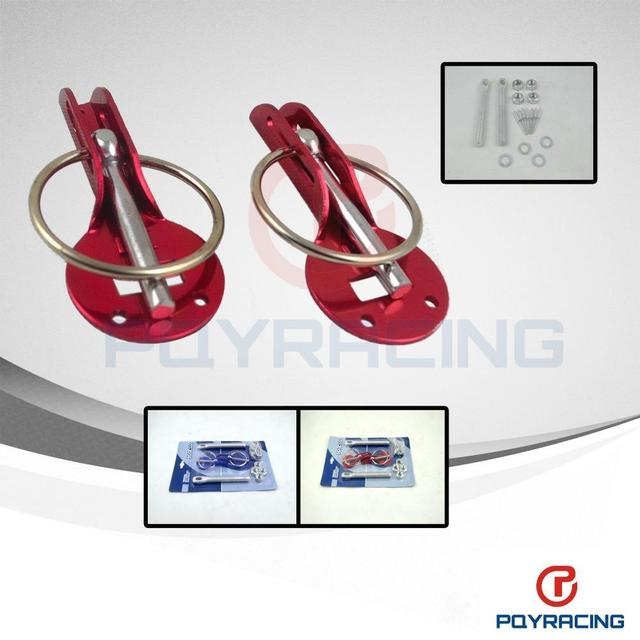 PQY STORE- Alloy Bonnet Hood Pin Lock Kit Down Hood Lock Pins fit ALL Racing Speed aluminum (Blue or Red or Slivery)