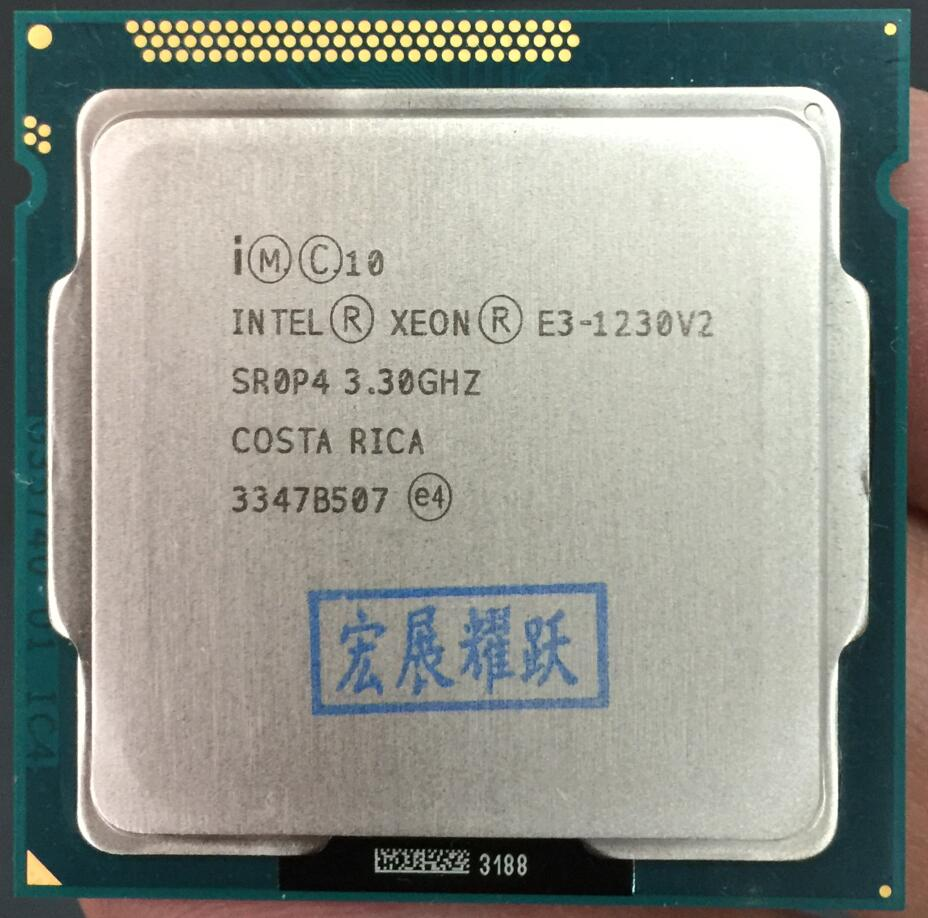 Processeur intel xeon E3-1230 v2 E3 1230 v2 ordinateur pc De Bureau CPU Quad-Core Processeur LGA1155 De Bureau CPU