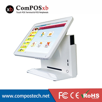 Compos 15 inch TFT LCD Touch Screen Monitor Electronic Cash Register/POS PC Touch Screen All In One With Customer Display