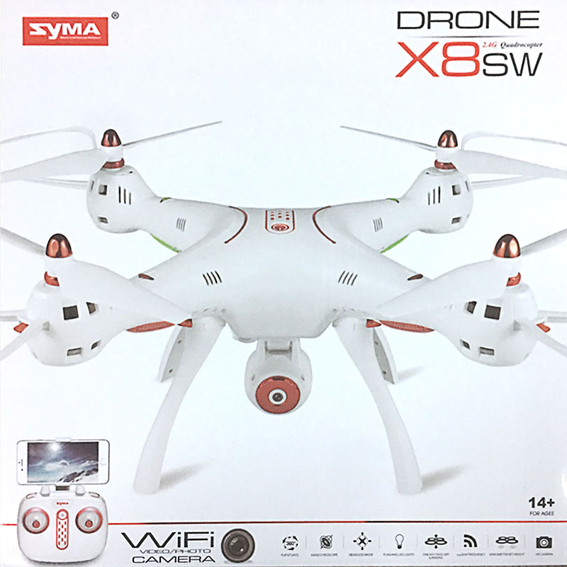 NEW Drone Syma x8 SW XXL Block Height Headless Camera HD and FPV Real Time