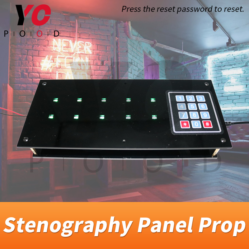 Stenography Panel Prop Countdown Panel YOPOOD Escape Room Remember the order that light flashes then input the password to open|Access Control Kits| |  - title=