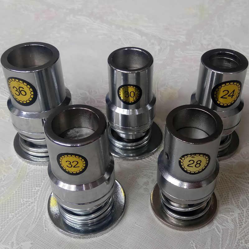 Lote de 500 botones de tela redonda cubiertos de aluminio de 13 tamaños #16-60 con 1 Herramienta en forma de pan de Metal para manualidades, envío gratis