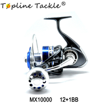 Topline Tackle 5000 7000 10000 Spinning Reel Fishing Wheel Casting with Line Copper rod rack drive Fish Tools