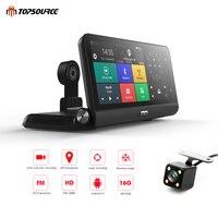 TOPSOURCE Car DVR 4G 8 Android 5.1 Car Camera WIFI 1080P Video Recorder Registrar Dash Cam DVR Parking Monitoring T78 1GB 16GB