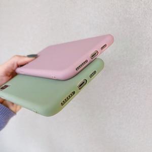 Image 5 - Manque solide couleur Silicone Couples étuis pour iphone XR X XS Max 6 6S 7 8 Plus 11 11Pro Max mignon couleur bonbon doux Simple mode coque de téléphone nouveau
