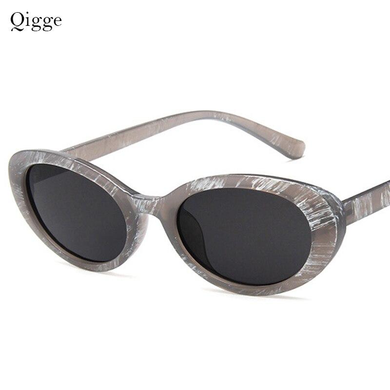 45d269f316 Clout, gafas de Kurt Cobain gafas oval señoras moda 2019 gafas de sol retro  Vintage de las mujeres de blanco negro gafas UV400