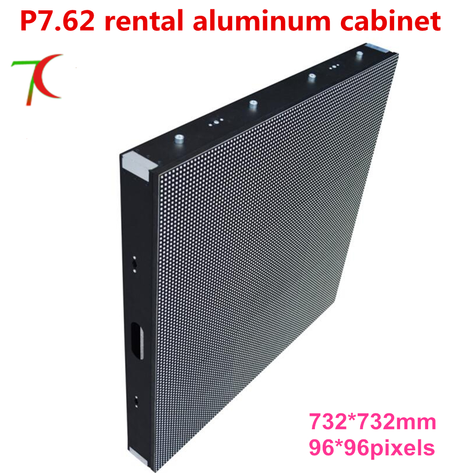 732*732mm 8scan P7.62 hd SMD full color aluminium equipment cabinet led display ,17222dots/m2