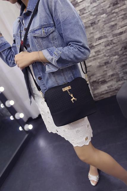 Women Crossbody Bag Casual Zipper Women Messenger Bags Female Single Leather Handbags Mini Shell Shape Bag Sholder Bag