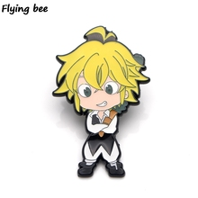 Flyingbee Kingdom Hearts Enamel Pin For Clothes Bags Backpack badge Funny Cute Brooch Shirt Lapel Pins X0276