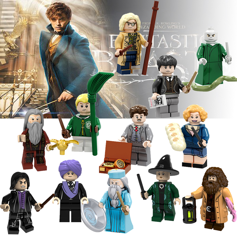 For Single Sale Harry Magic Series Figures Hermione Granger Lord Voldemort Ron Draco Dobby Malfoy Beasts Set Building Blocks
