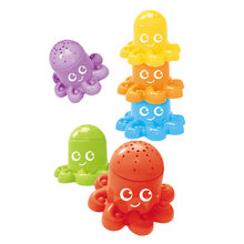 6pcs/set Octopus Duck Bear Stack Cup Tower Educational Baby Toys Foldind Children Early Intelligence 24 Months Babies Games New(China)
