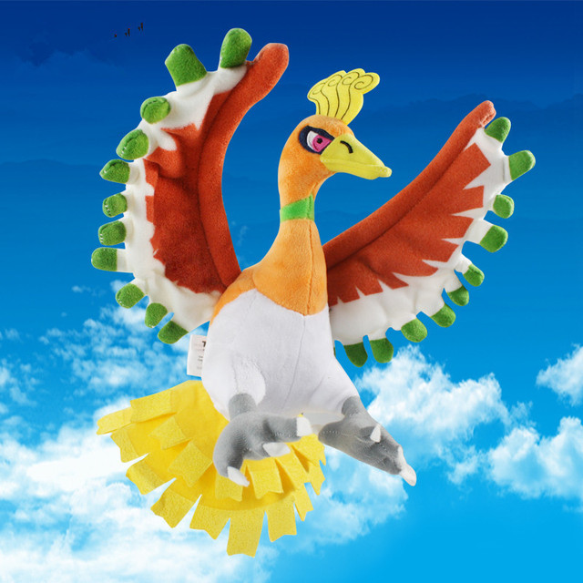 Retail 1pcs Ho-oh Plush Toys Stuffed Doll 27cm Christmas Gift For Children  Free Shipping