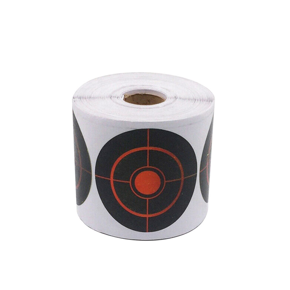 100/250pcs Roll Shooting Adhesive Targets Splatter Roll Splatter Target Sticker Reactive Target Sticker 7.5cm