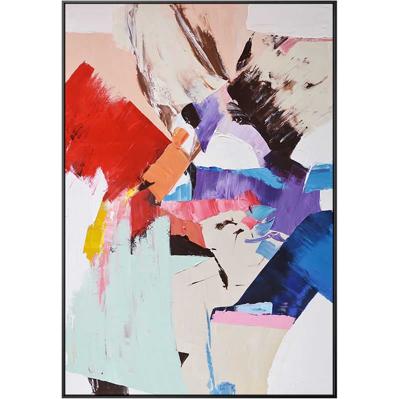 Splash Colorful Room Wall: Abstract Color Splash Canvas Painting Poster Print Unique