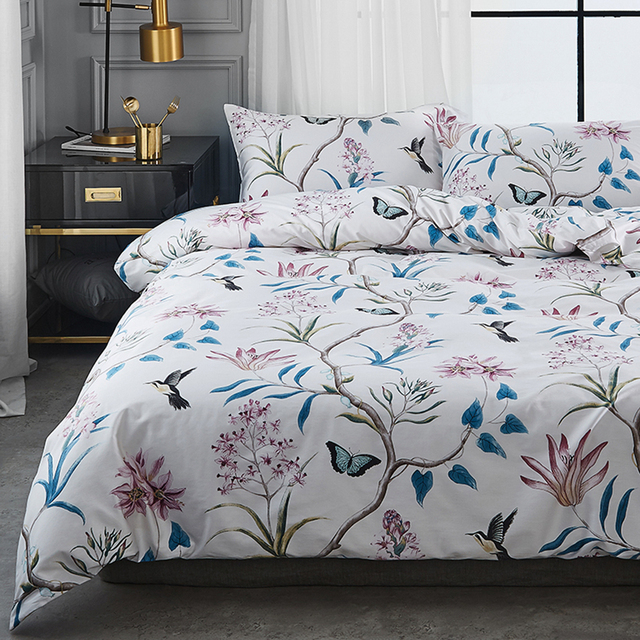 Bed Linen China High Quality Set 100 Egyptian Cotton Bedding Modern Bedsheet Flower Duvet Cover Queen And King Size