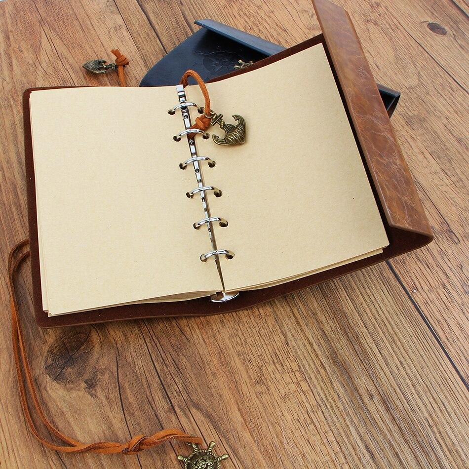 Nový deník kniha Notebook Vintage Pirate Notebook Vyměnitelný - Bloky a záznamní knihy - Fotografie 3