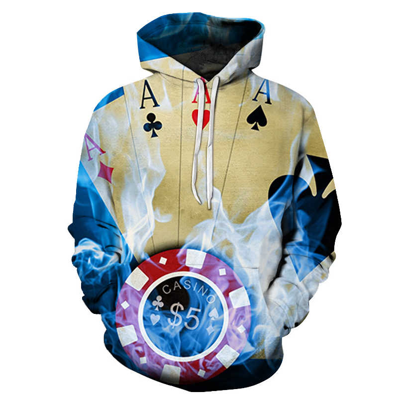 2019 New poker Hambourg Beer Printed Women Hoodie Hooded Femme Sweatshirt Casual Loose Men Pocket Hoodies Coat Asian size s-6xl