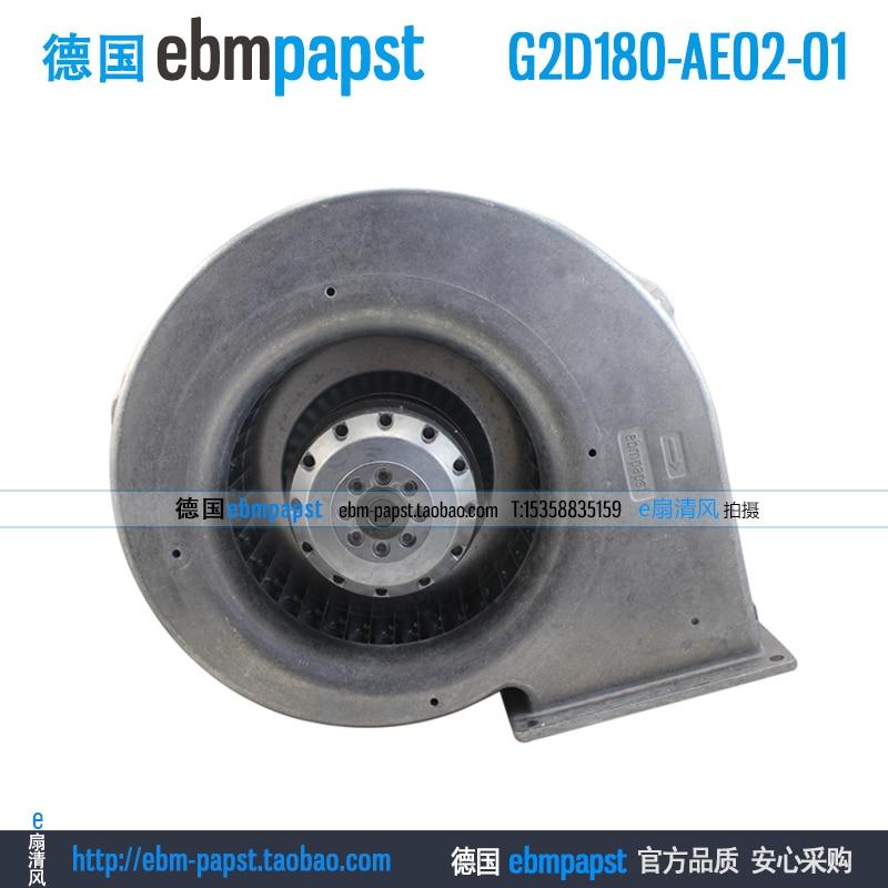 ebm papst G2D180-AE02-01 AC 220V 380V 0.66A 415W 180x180mm Server Blower fan ebm papst drives for parker variable frequency r2e190 af58 13 blower la466711u002