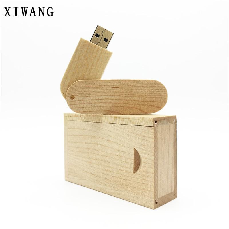 New Design Usb Flash Drive 128GB U-shaped Pen Drive 64gb Key Wooden Box Pendrive 32gb Usb Memory Stick 4gb 8GB 16GB Custom LOGO