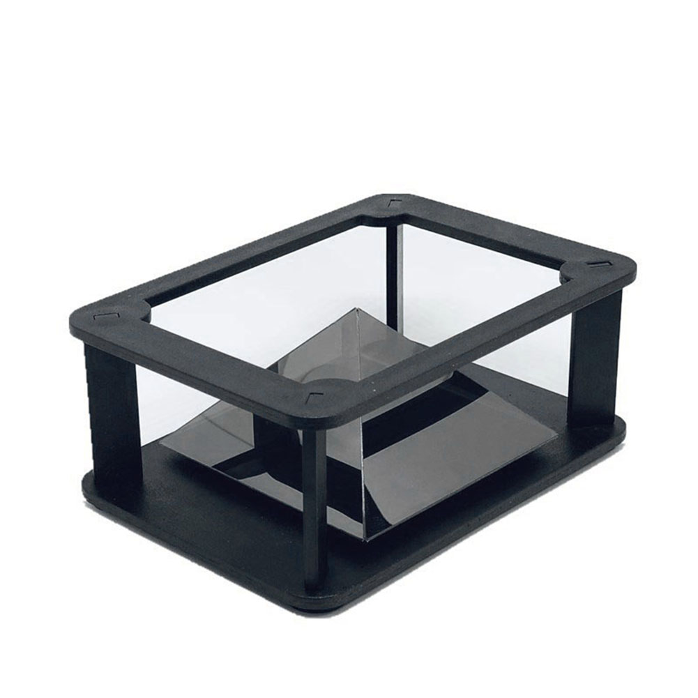 3D Holographic Projector Pyramid Four-dimensional Image Display Portable For Mobile Phone 8899