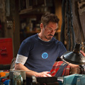 Железный Человек 3 Тони Старк Косплей Футболка С Коротким рукавом Хлопчатобумажную Рубашку мужчины Синие футболки
