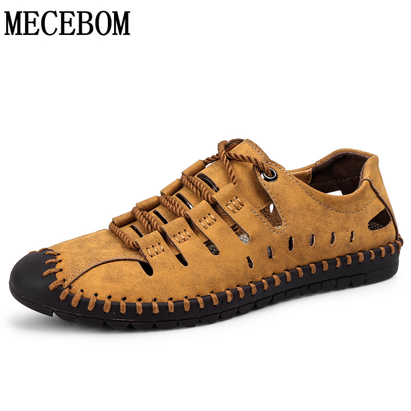 New Summer Shoes Men Casual Shoes Quality Split Leather Shoes Hollow Breathable Men Flats Hot Moccasins plus size 38-46 8808m цена