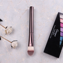 HG #15 Coffee Metal Handle Tongue Shape Precision Foundation Cream Brush Cheek Blush Make up Sculpting