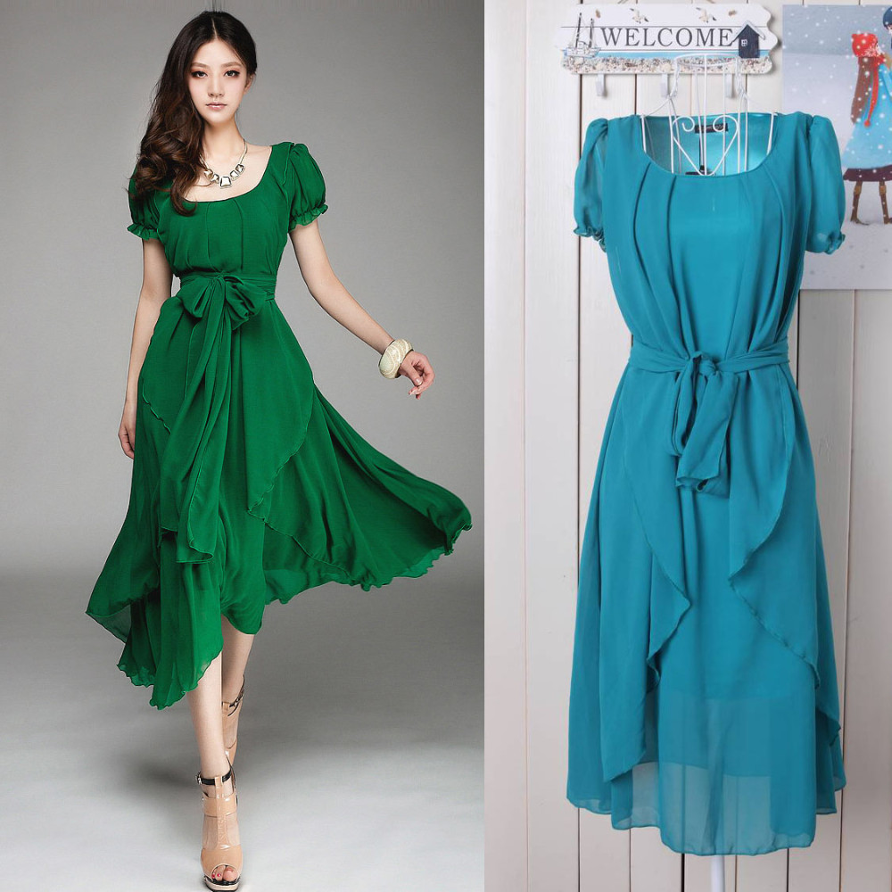 New Spring Fashion Elegant Sheer Women Lace Casual Dress Summer ...