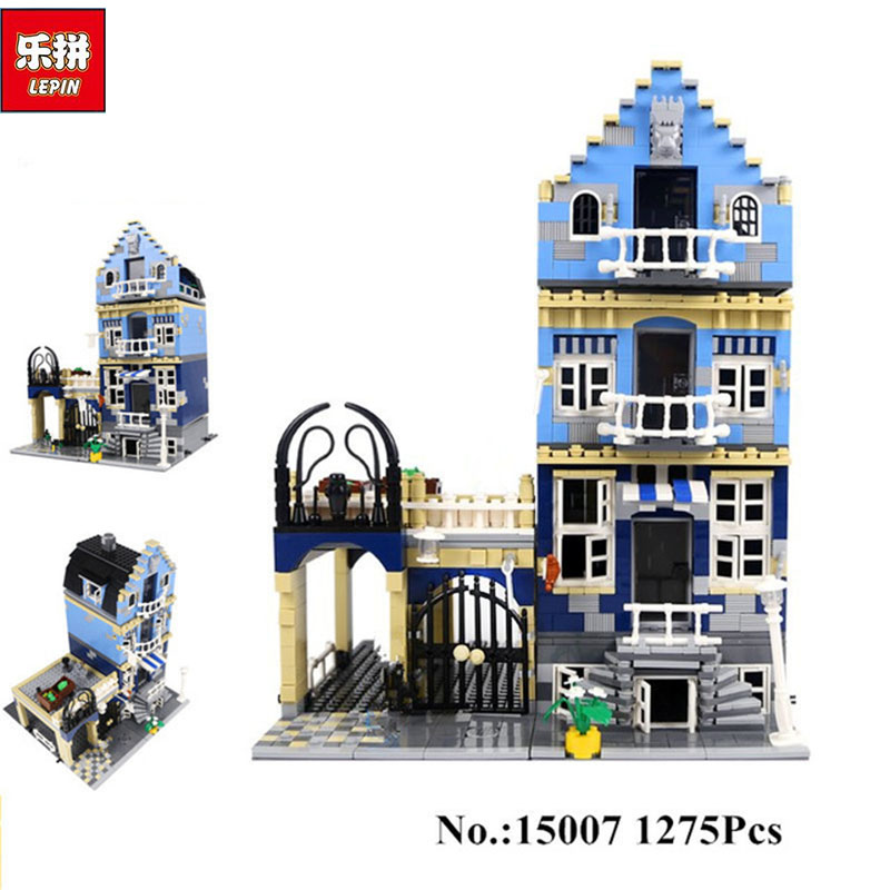 Lepin 15007 Factory City Street European Market Model Building Block Set Bricks Kits DIY Compatible 10190 Educational child toys loz mini diamond block world famous architecture financial center swfc shangha china city nanoblock model brick educational toys