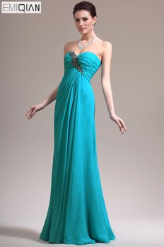 Freeshipping A-line Sweetheart Neckline Floor-length Chiffon Evening Dresses Formal Gown