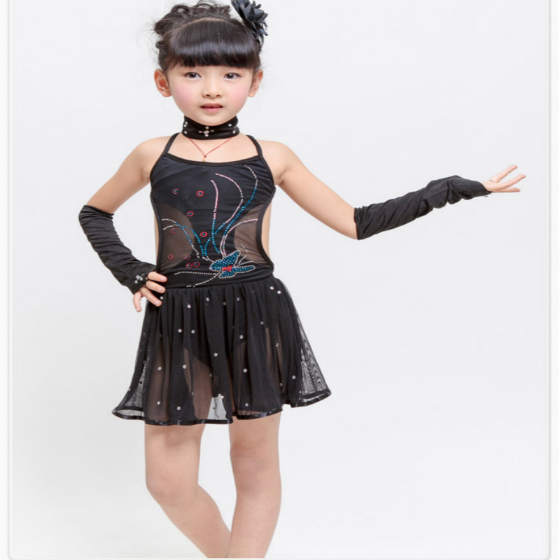 Children's Clothing girls costumes dress kindergarten Latin dance performance summer Sequin dresses International Children's Day pegasus girls sexy latin dance dress fashion female dance dress1448 new clothes and costumes