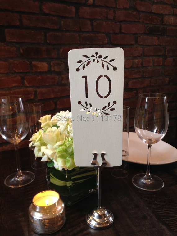 floral laser cut table numbers wedding place settings personalized design table cardsseating card
