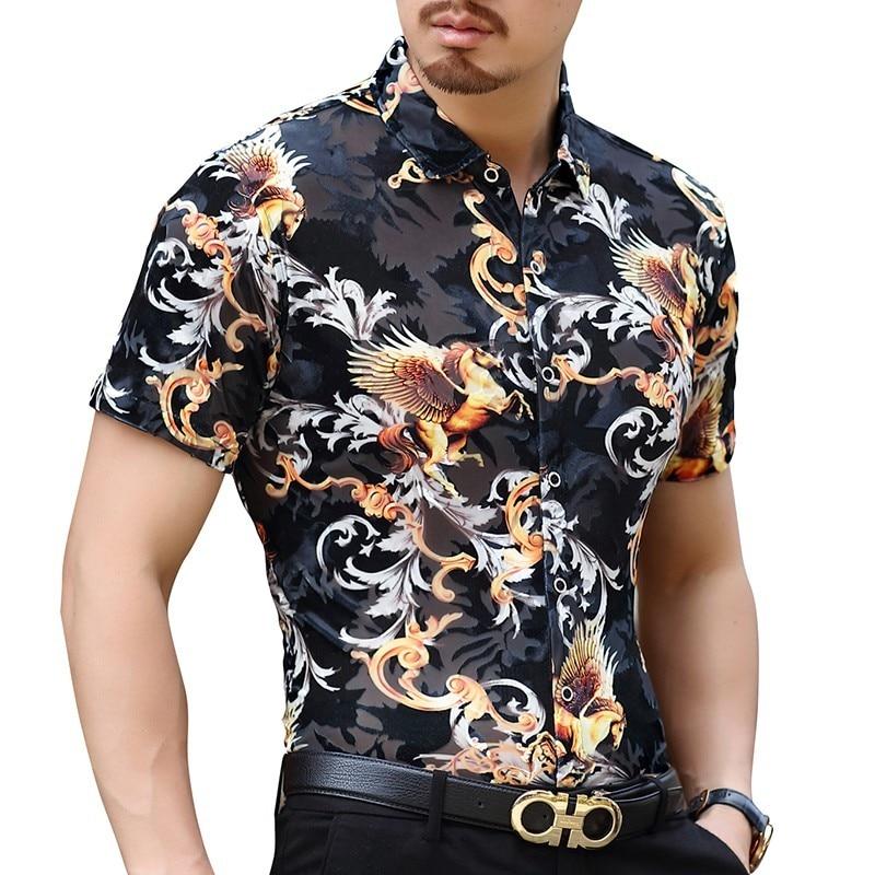 4fe484314d top 10 most popular men 2527s short sleeve velvet shirt ideas and ...