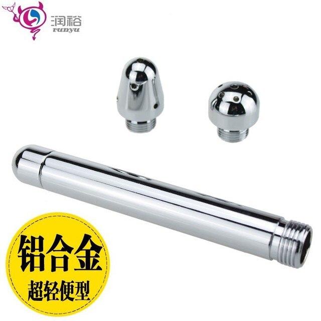 Металл Клизмы инструмент для анальный очистки и вагинальные Полоскания Enemator душ головы для мужчин и женщин