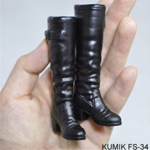 HoT 1/6 Black Boots empty inside Shoes Female Scale FS33-FS36 Fit For 12 female Action Figure Model Toys Gift Co