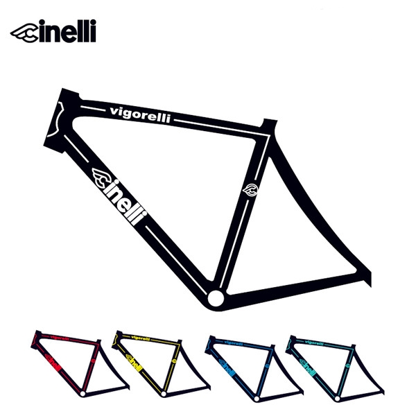 new cinelli fixed gear bicycle frame sticker road bike decals in bicycle frame decal frame stickers
