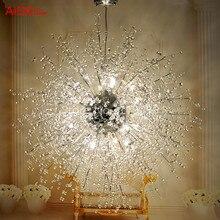 Современные СВЕТОДИОДНЫЕ мяч люстра творческая искра фейерверк звезды минималистский гостиной Хрустальная люстра спальня ресторан