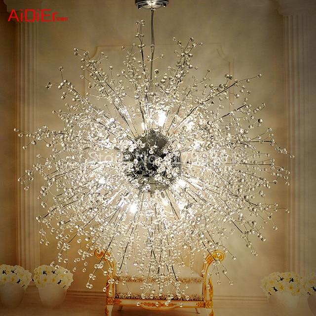 Modern Led Ball Chandelier Creative Spark Fireworks Stars Minimalist Living Room Crystal Bedroom Restaurant