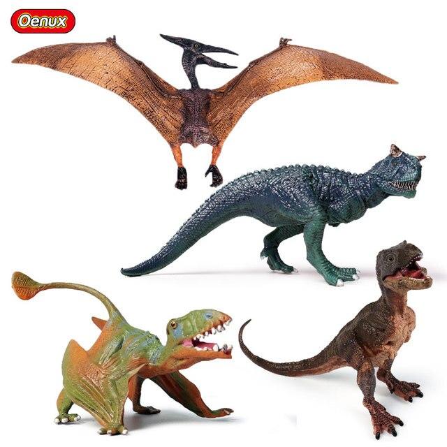 Prehistoric Oenux Jurassic Dinossauro Carnotaurus Pterosauria T-Rex Filhote Modelo Figuras de Ação Figuras de Pteranodon Dinossauro Brinquedos