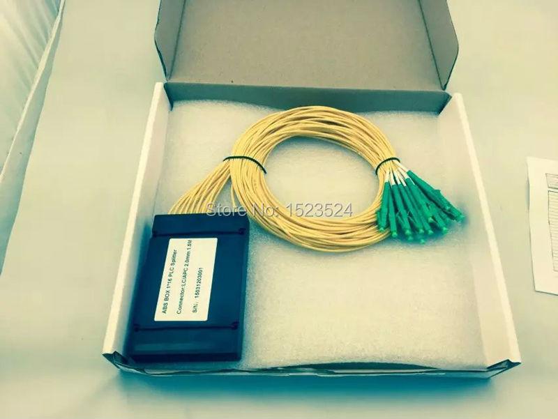 Free Shipping 2 0mm 1 5M 1x32 ABS Box LC Fiber Optical PLC Splitter Module
