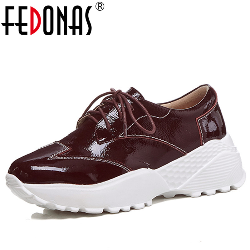 FEDONAS New Women Shoes Flats Heels Platforms Fashion Genuine Leather Shoes Woman Female Lace Up Retro Comfort Casual Shoes fedonas 2018 new women genuine leather casual shoes low heels comfortable lace up loafers brand design spring shoes woman