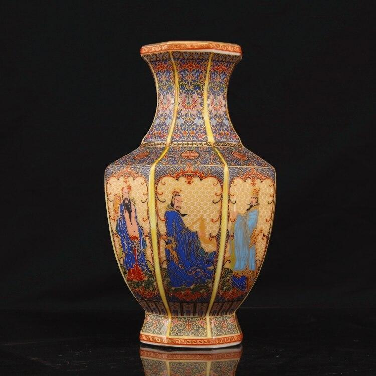 Émail à Yongzheng année de la dynastie Qing or huit immortels traversant la mer porcelaine Antique et porcelaine Antique