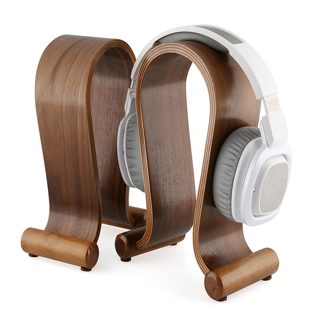 U Design Wooden Headphones Stand Headset Holder Display Racks Hanger Shelf Bracket Earphone Accessories Headphone Holder B2 2017