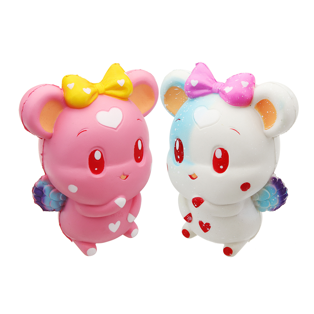 Pink White Cute Rabbit 13.6*9.8*8.4cm Slow Rising Collection Gift Soft Toy Relief Stress Funny Lovely