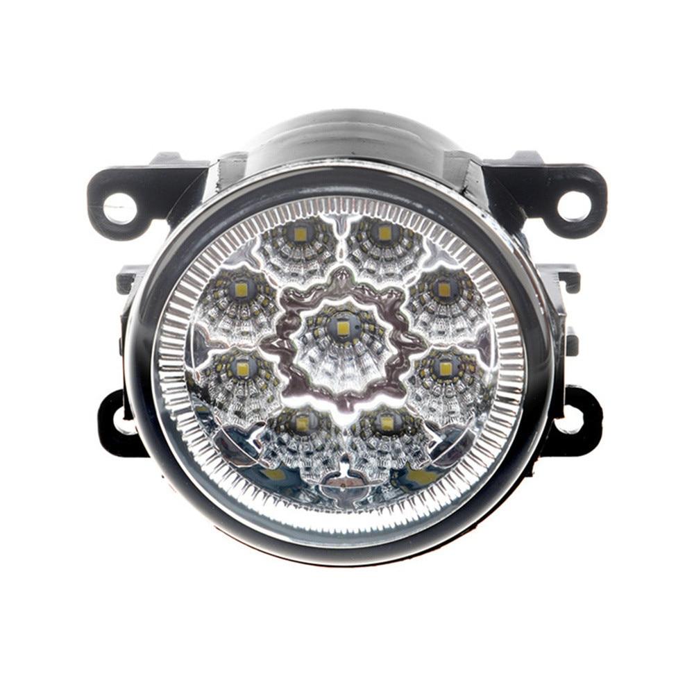 Brouillard Assemblage De La Lampe Super Lumineux Brouillard Lumière Pour Renault LOGAN Saloon LS 2004-2015 haute luminosité Led Feux de Brouillard DRL Lampe 2 pcs