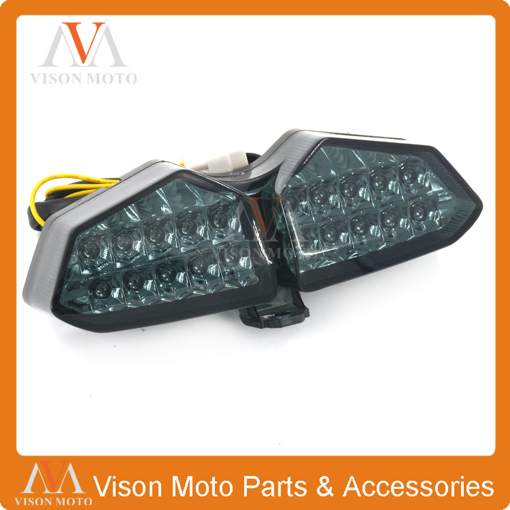 Motorcycle Rear Tail Light Brake Signals Led Integrated Lamp Light For YAMAHA YZFR6 YZF R6 03 04 05 YZF R6S YZFR6S 06 07 08 motorcycle bike tail brake light turn signal running light smoke rear lamp for yamaha yzf r6 2006 2007 2008 2009 2010 2011